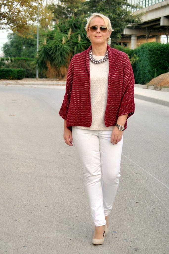 мода весна лето кому за 50: женские белые брюки