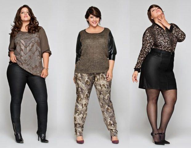мода весна лето после 50: штаны кожаные под кофту штаны в узор под коричневую кофту кожаная юбка
