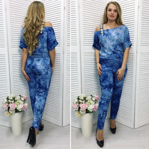 мода весна лето 2019 для женщин за 50: комбинезон варенка