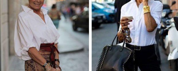 мода для женщин за 50 в 2019 году весна лето: белые блузки