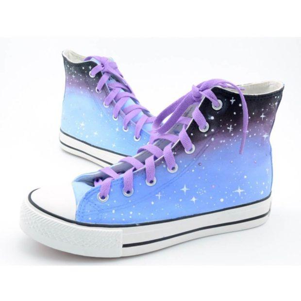 женская обувь весна лето 2019: кеды высокие в звездное небо