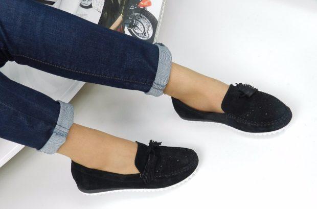 обувь весна лето 2019 фото: мокасины черные