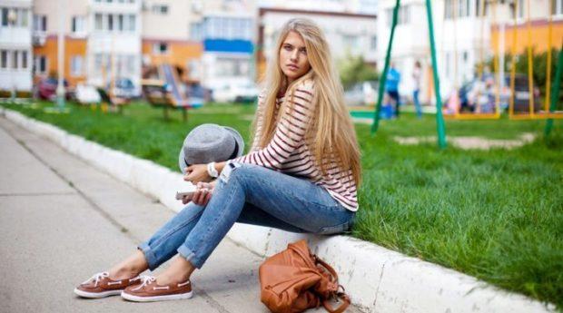 обувь весна лето 2019 фото: топсайдеры коричневые с белым