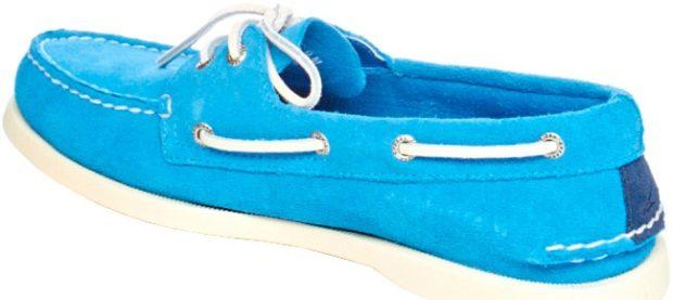 модная обувь весна лето 2019 фото: топсайдеры голубые