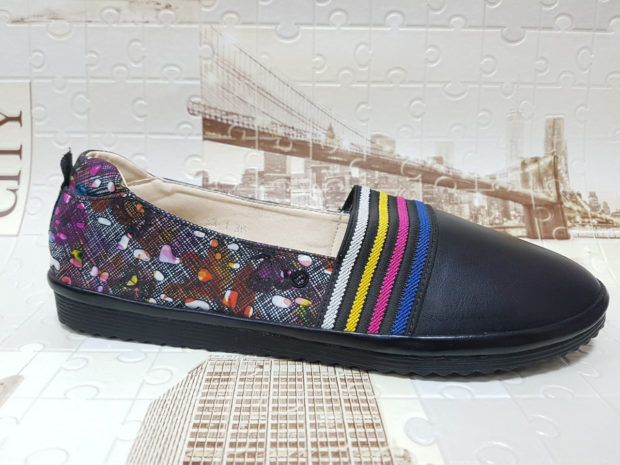 модная обувь весна лето 2019 фото: эспадрильи черные с рисунком