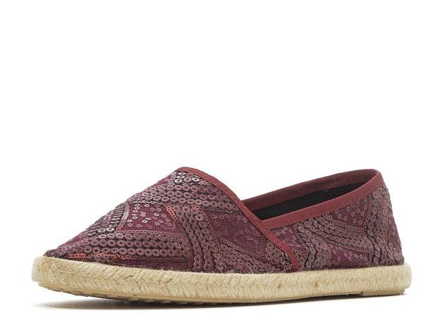 модная обувь весна лето 2019 фото: эспадрильи текстильные с пайетками