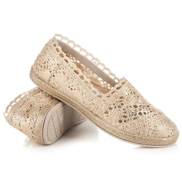 модная обувь весна лето 2019 фото: эспадрильи бежевые плетеные
