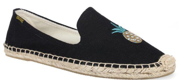 модная обувь весна лето 2019 фото: эспадрильи черные текстильные