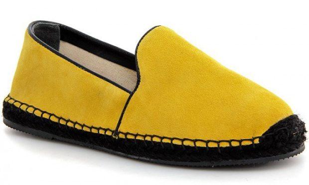 модная обувь весна лето 2019 фото: эспадрильи желтые текстильные
