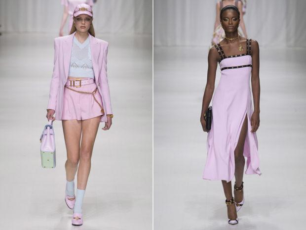 цвета весна лето 2019: одежда бледно-розовый