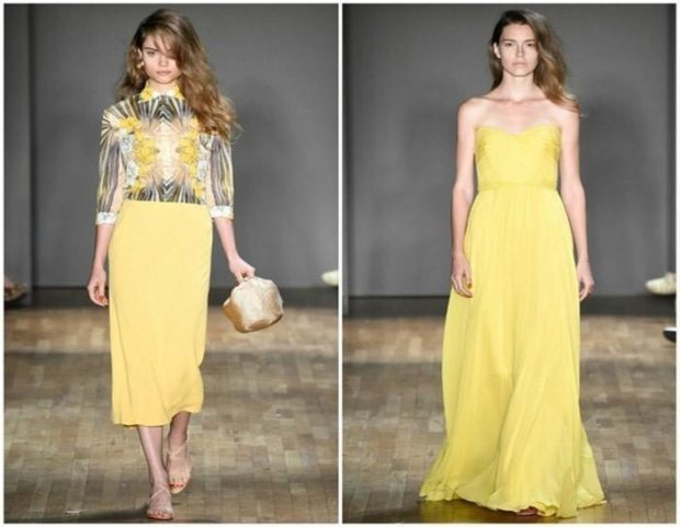 цвета весна лето 2019: одежда бледно-желтый