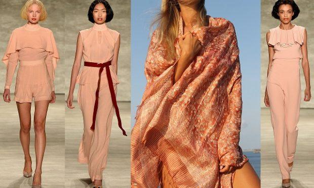 цвета весна лето 2019: одежда персиковый