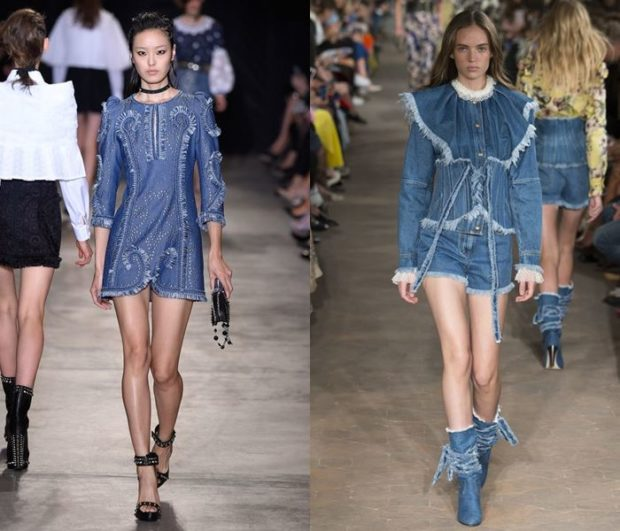 цвета весна лето 2019: одежда синий джинс