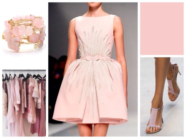 модный нежно-розовый цвет