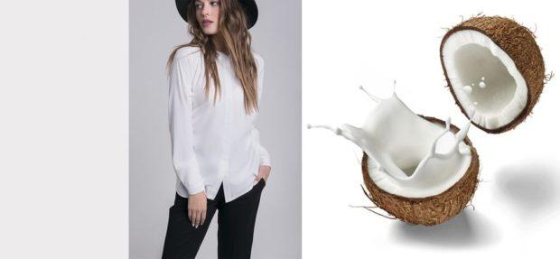 цвета весна лето 2019 года: блузка цвет кокосового молока