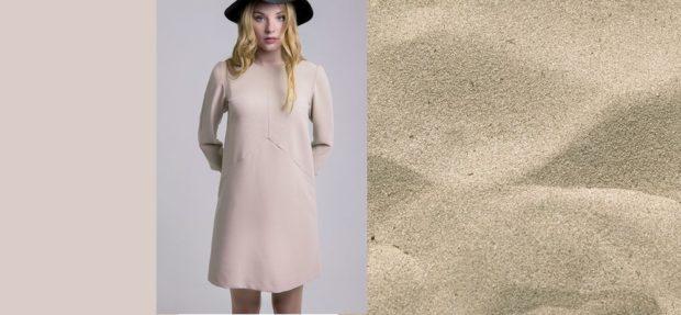 модный цвет одежды теплый песок