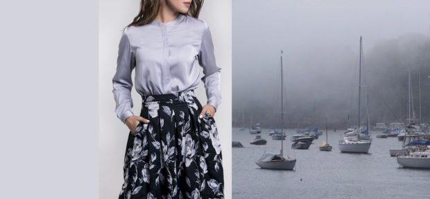 блузка цвет туман гавани