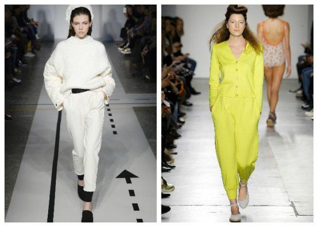 цвета весна лето 2019 года: одежды белый салатовый