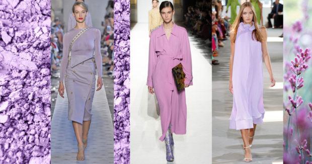 цвета весна лето 2019 года: одежды сиреневый