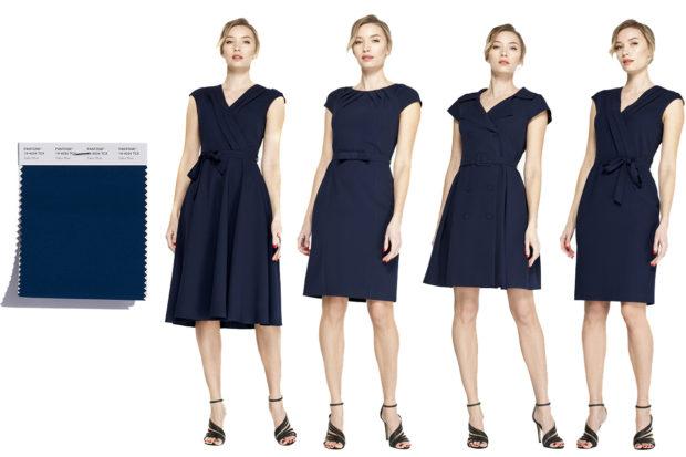 модные цвета одежды темно-синий