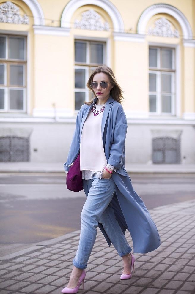 цвета весна лето 2019 года: одежда синий джинсовый