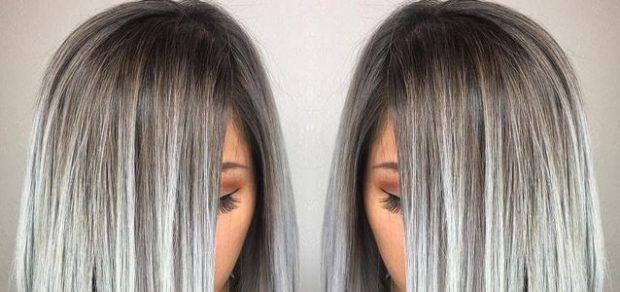 модный цвет волос серый блонд