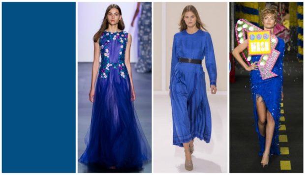 цвета весна лето 2019: одежда глубокий синий