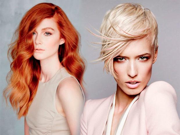 цвета весны лета 2019: волосы рыжий белый