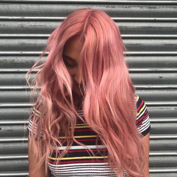 модный цвет волос розовый
