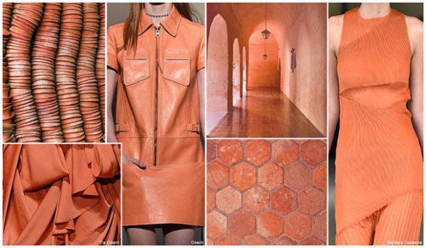 цвета весна лето 2019: одежда оранжевый
