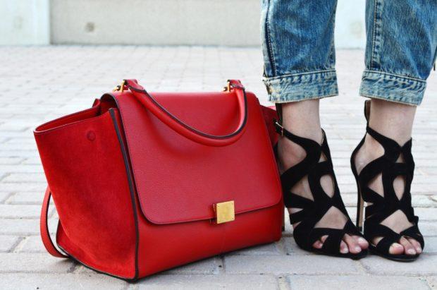 модный цвет сумки красный