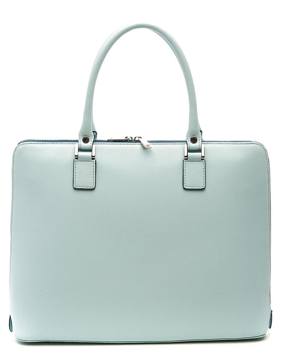 сумка светлая голубо-серая