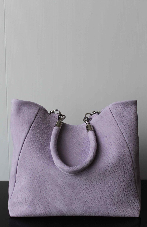 сумка светлая лиловая