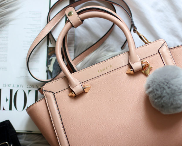 цвета весны лета 2019: сумка персиковая