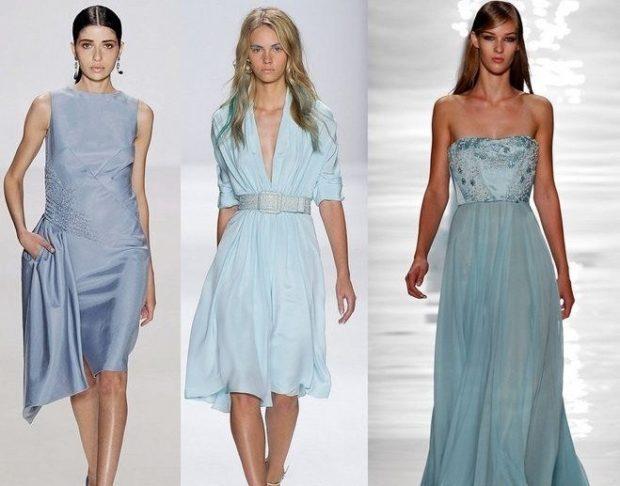 модный цвет одежды серо-голубой