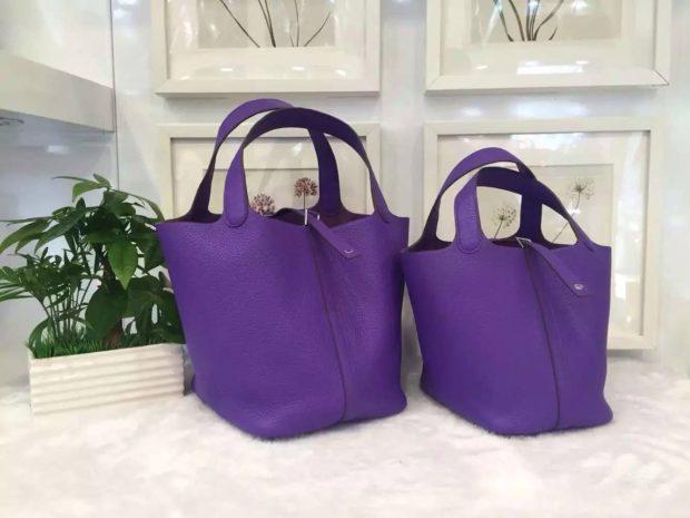 цвета весны лета 2019: сумки-мешки цвет ультрафиолетовый