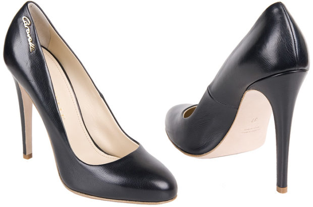 туфли лодочки на шпильке кожаные черные