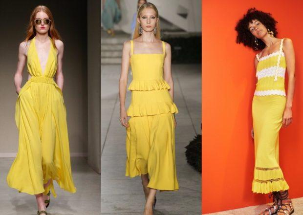цвета весна лето 2019: одежда желтый