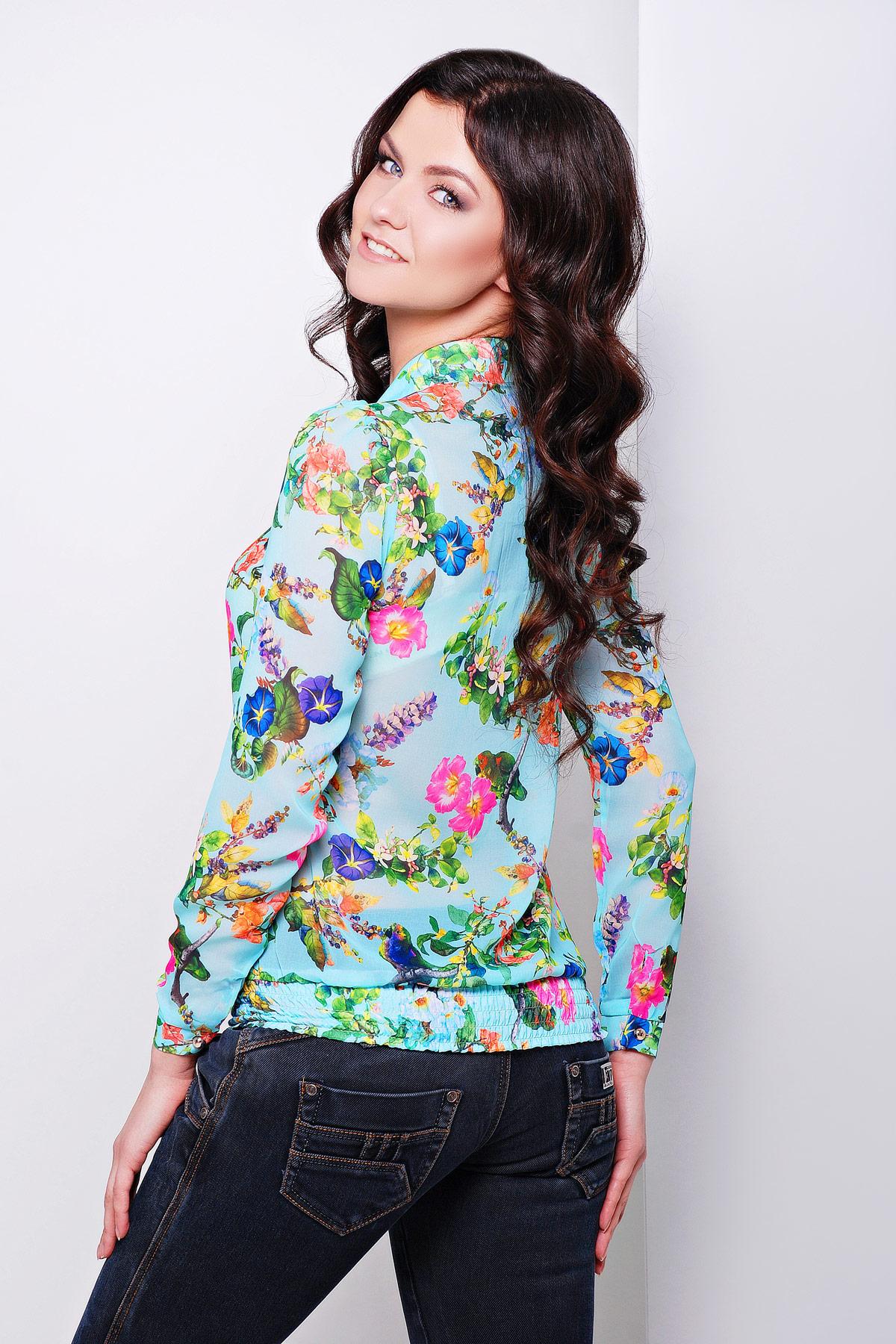 модные блузки весна лето 2019 фото: с длинным рукавом цветная в цветы