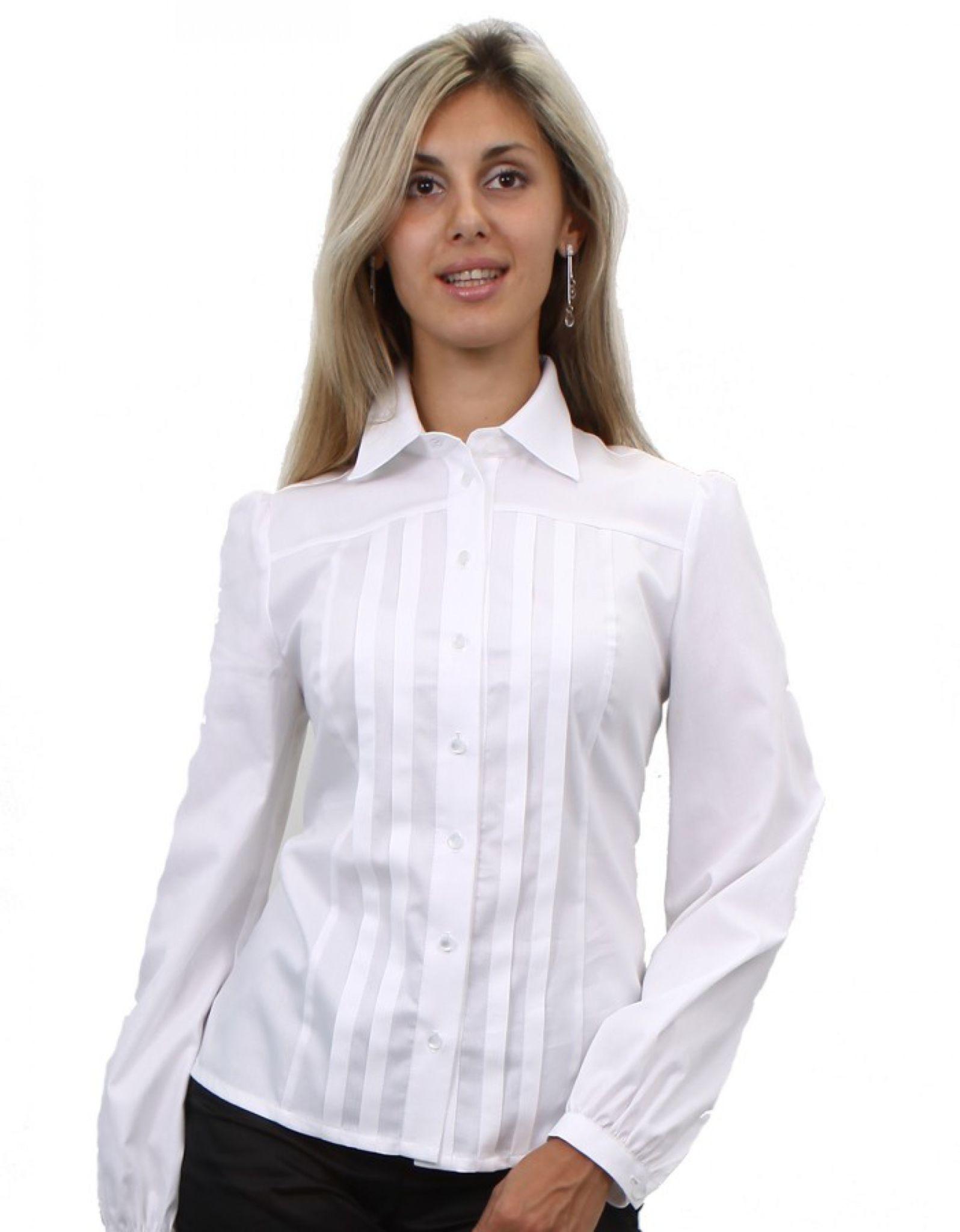 блузки весна лето 2019 года: офисная белая рукав длинный