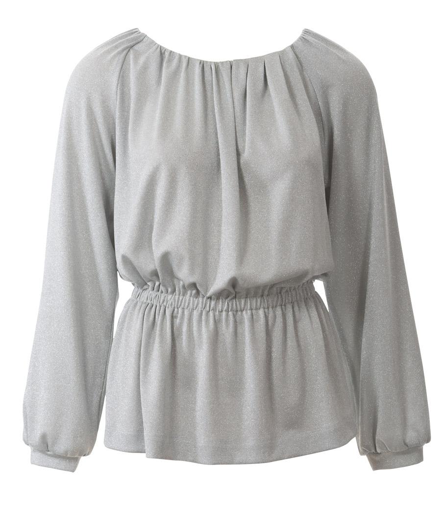блузки весна лето 2019: с рукавом реглан серая