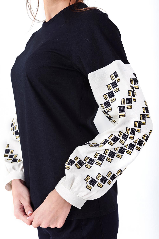 блузки весна лето 2019: с рукавом реглан белым в принт