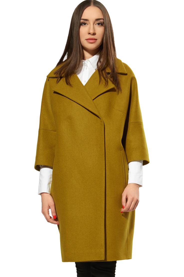 пальто весна 2019 цвета: оливковое рукав 3/4