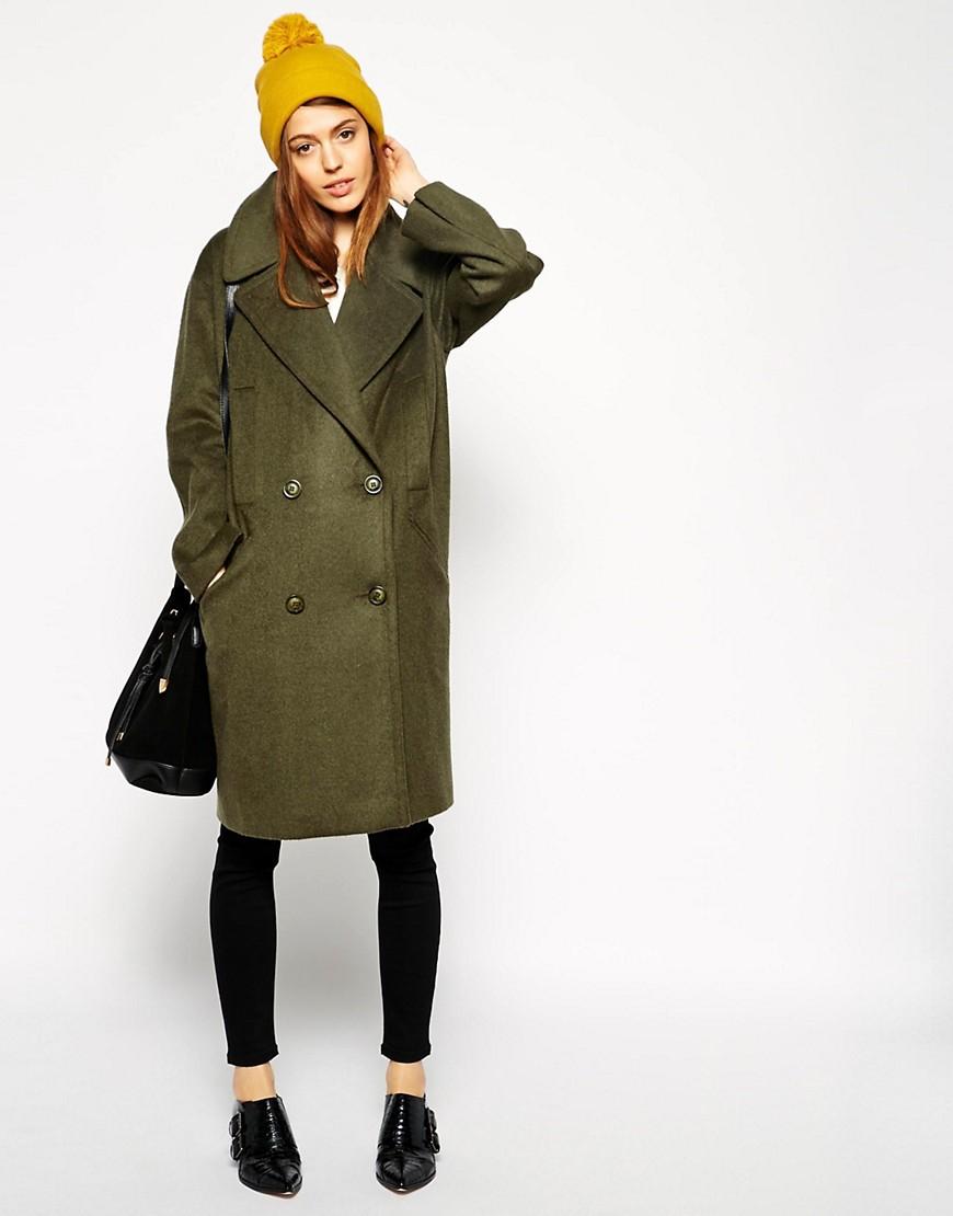 пальто куртки весна 2019: куртка зеленое по колено