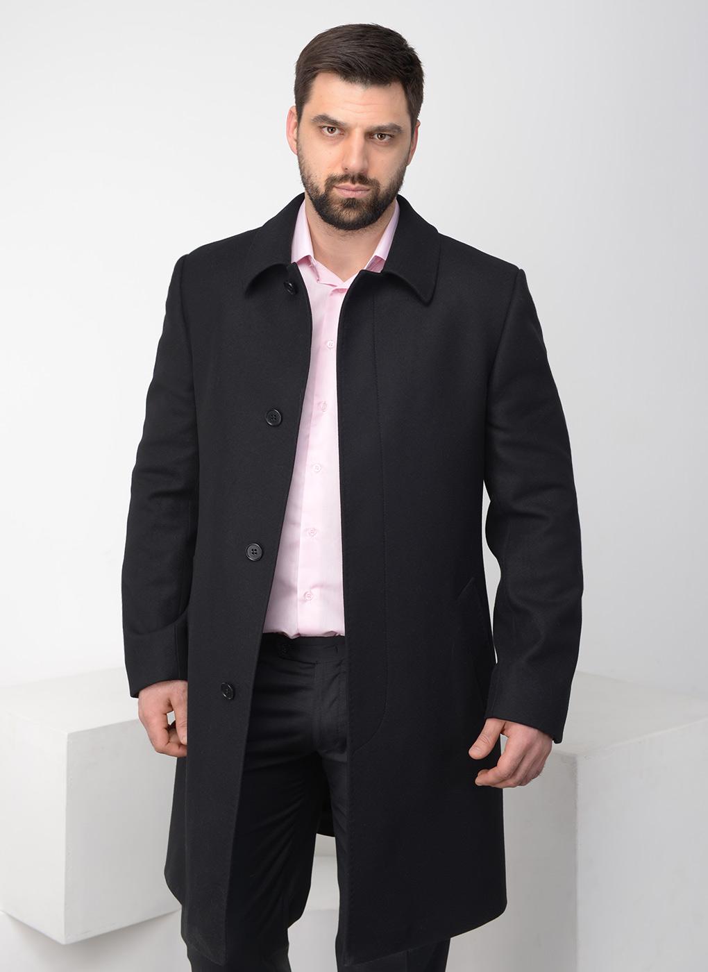 пальто мужское весна 2019: черное классика