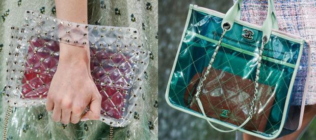 женские сумки 2018 года модные тенденции фото: прозрачные