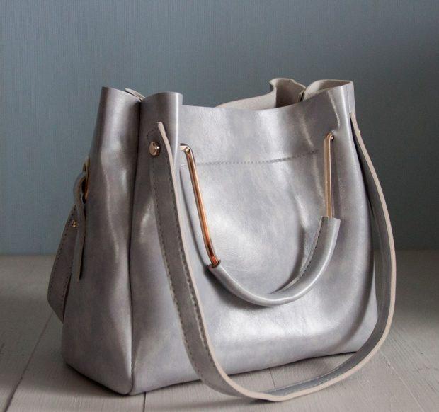 сумки лето 2019: мягкая серая
