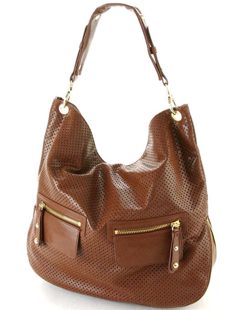 сумки лето 2019: мягкая коричневая в сетку