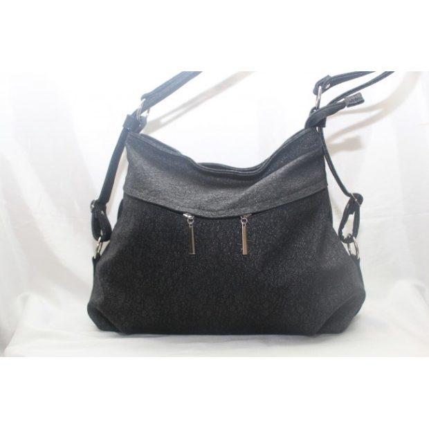 сумки лето 2019: мягкая черная кожа
