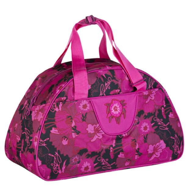 модные сумки весна лето 2019: спортивная розовая в цветы